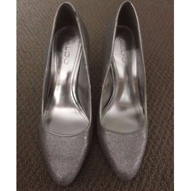 Aldo Silver Sparkley Shoes