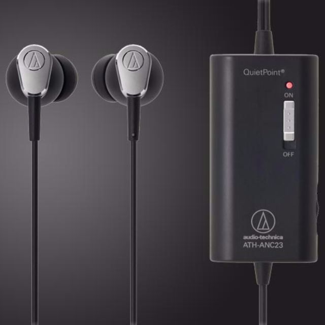 91adaa3a098 Audio-Technica ATH-ANC23 QuietPoint Active Noise-Cancelling In-Ear ...