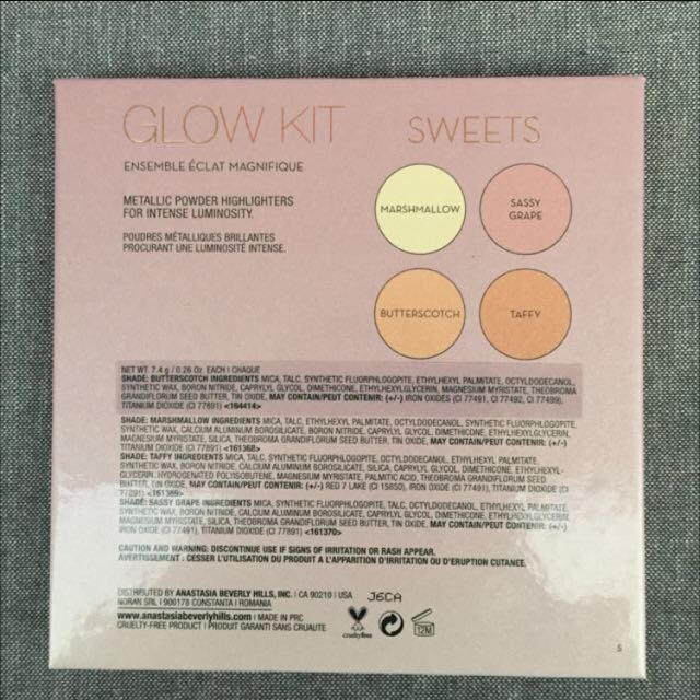 Authentic Anastasia Beverly Hills Sweets Highlight Palette
