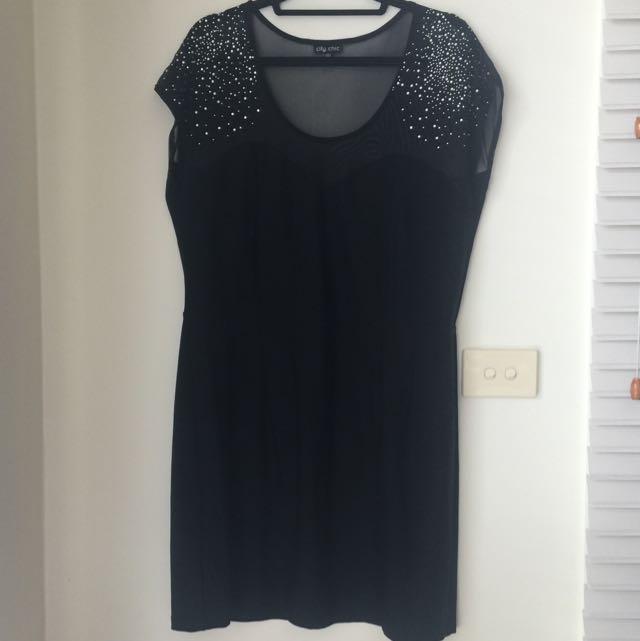 Black Form Fitting Dress
