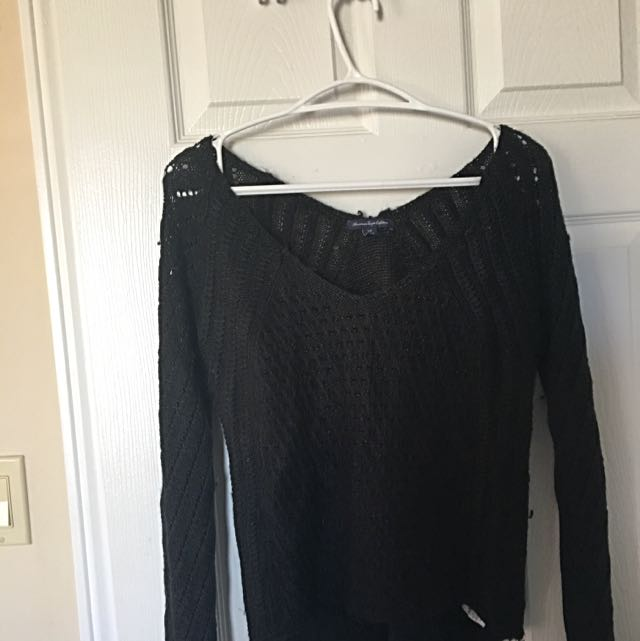 Black Shimmery Sweater