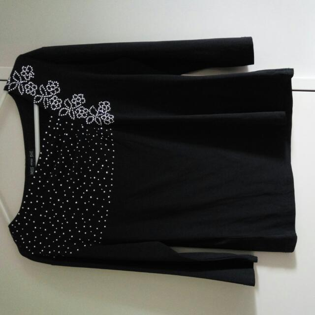 Black Stretchable Blouse, Size 10
