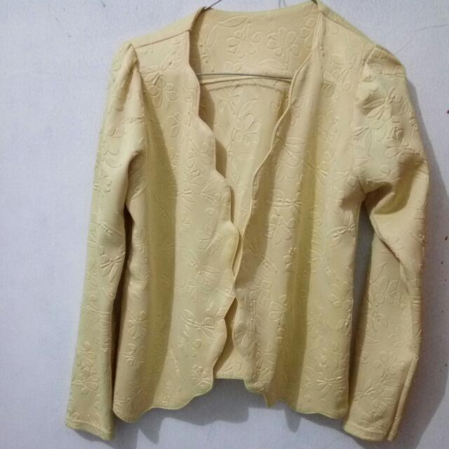 Blazer Warna Kuning Soft