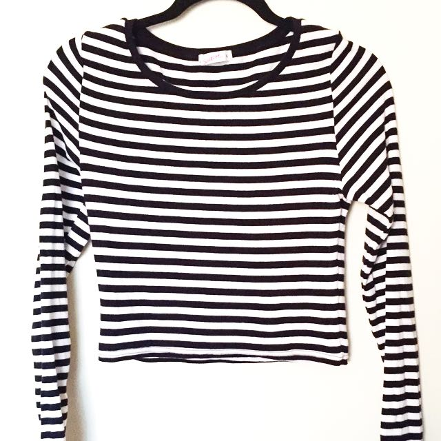 Cropped Striped Long Sleeve