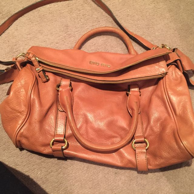 Designer Mirror Tan Handbag