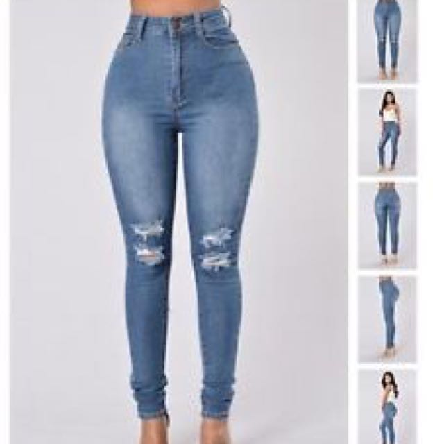 Fashionnoava High Waisted Jeans