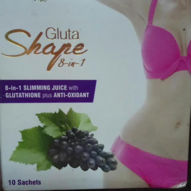 Gluta Shape 8-in-1                                       SLIMMING JUICE w/ GLUtathione Plus ANTI-OXIDANT