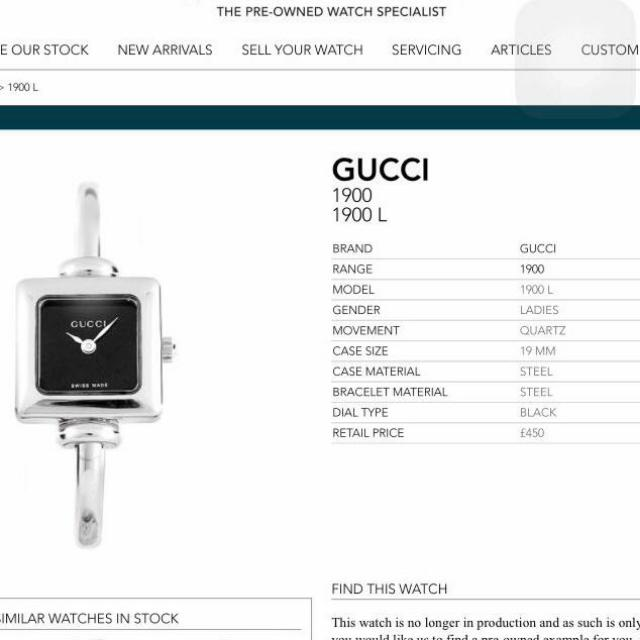 Gucci 1900L Or