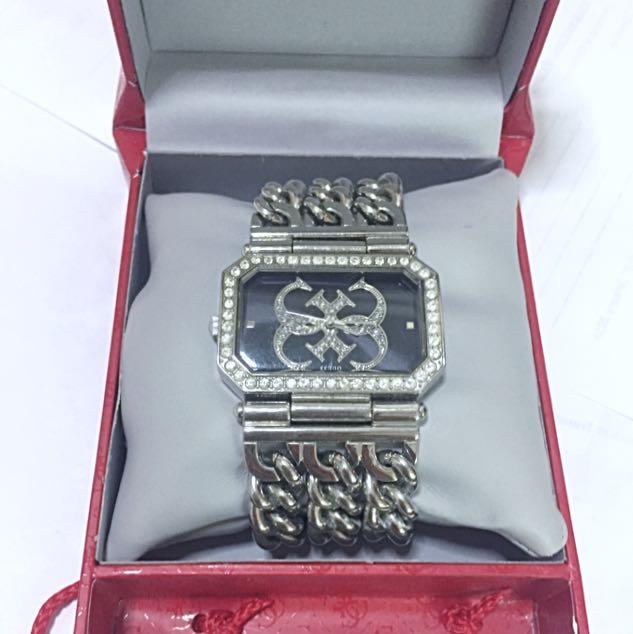 Guess Large Chain Bracelet Watch