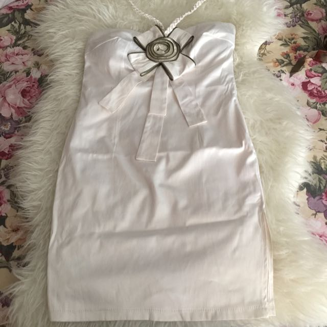 Halter Tube Dress White
