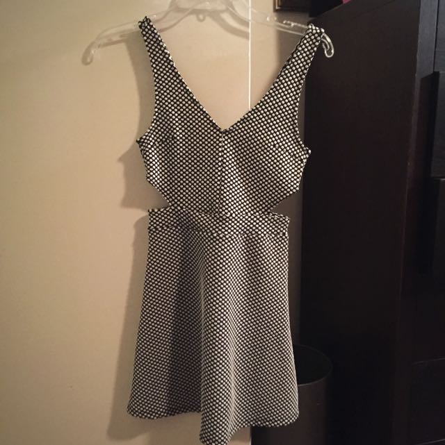 H&M Polka Dot Cut Out Dress