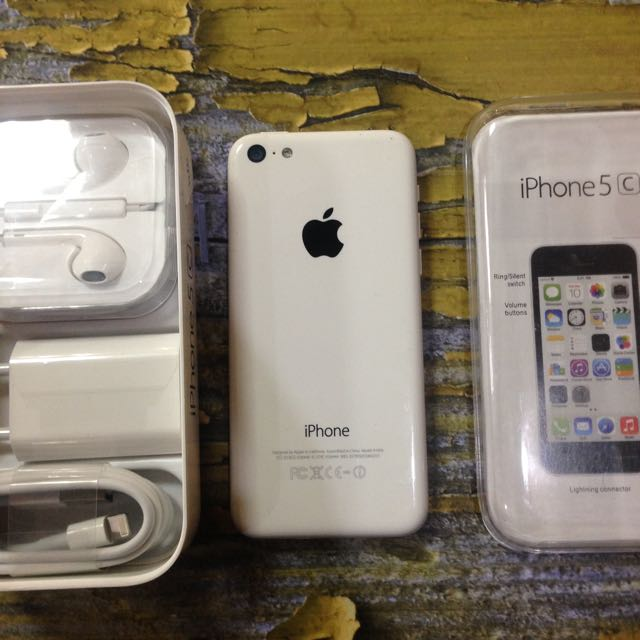 iPhone 5c 32GB White, Fullset Mulus, Fungsi Normal Semua