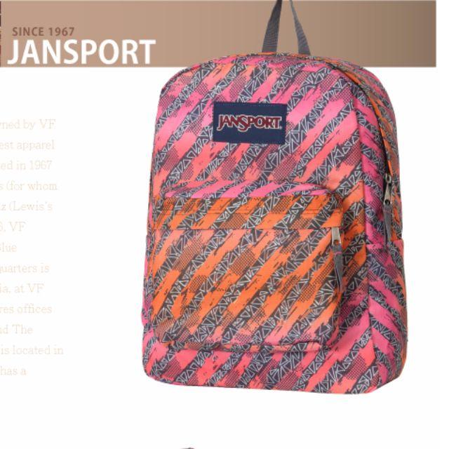 jansport 迷彩 粉紅色 後背包