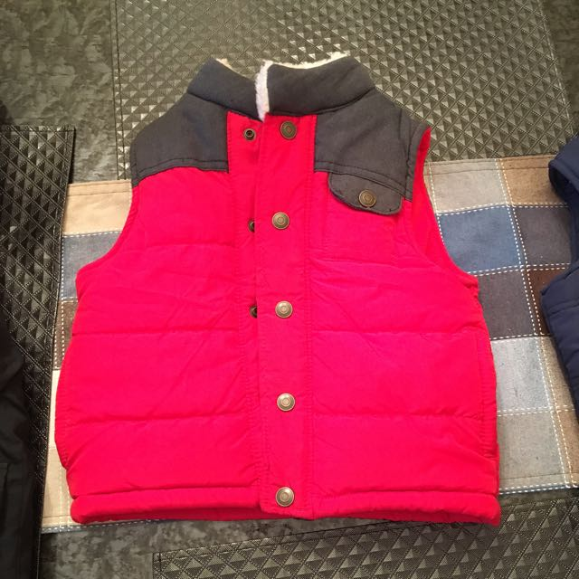 Kids Red waiscoat: Size : 3 t
