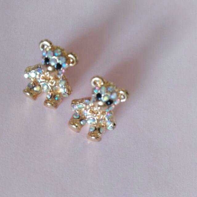 Korean Jewelry: Teddy Bear Earrings
