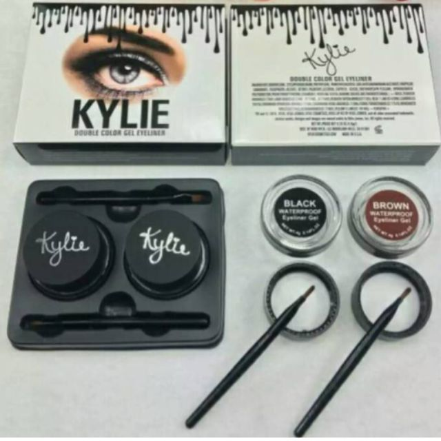 kylie eyeliner gel 2 in 1 double colour