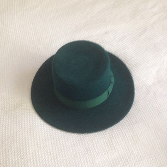 Lack Of Color Green Flat Hat Wide Brim