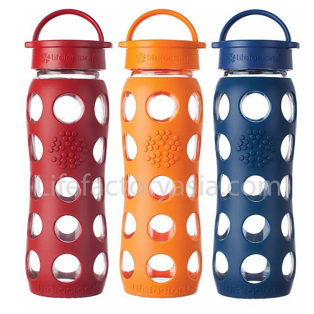 life factory 22 oz (650 ml) Classic Cap Glass Bottles.