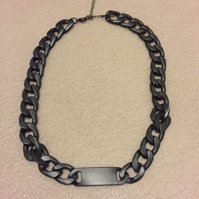 Matte Black Chain Necklace