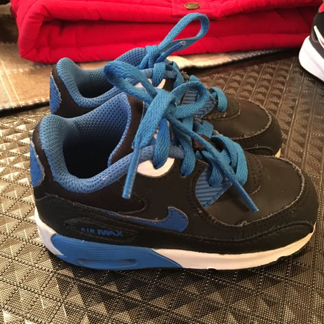 Nike AIR MAX Kids black-blue shoes Size : 6C