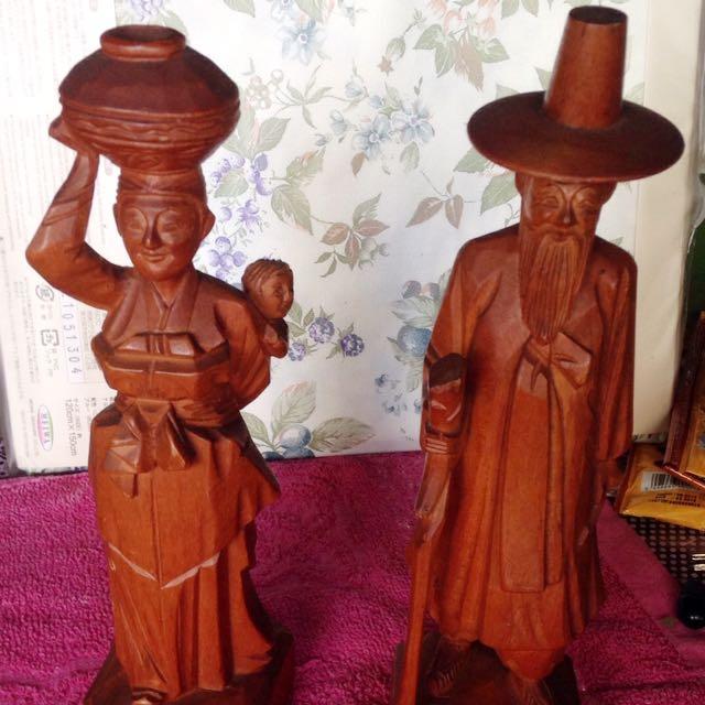 Old Man & Lady Figure