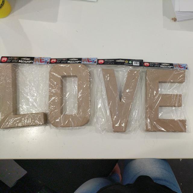 Paper Mache Love Letters