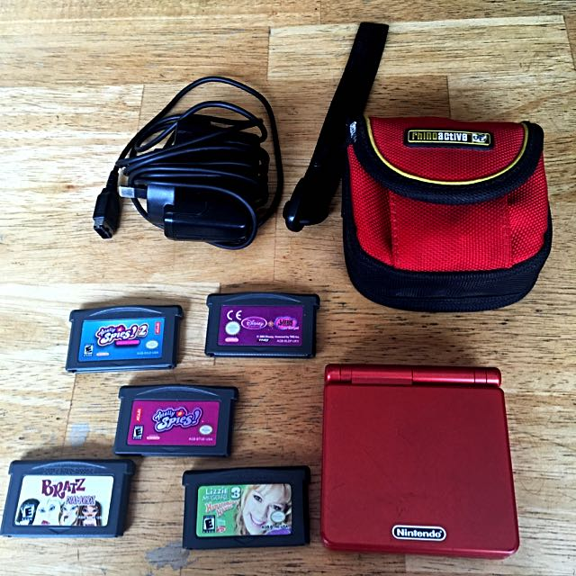 Red Game Boy Advance SP Bundle