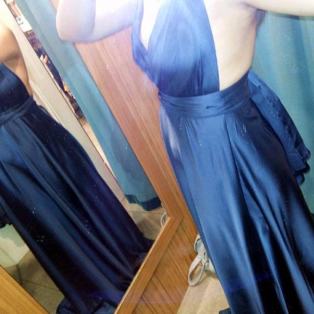 Silk Multiway Midnight Navy Blue Dress from Angel Biba