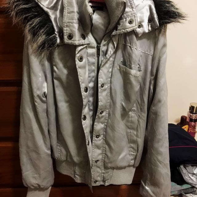 Silver Hoodie-Jacket