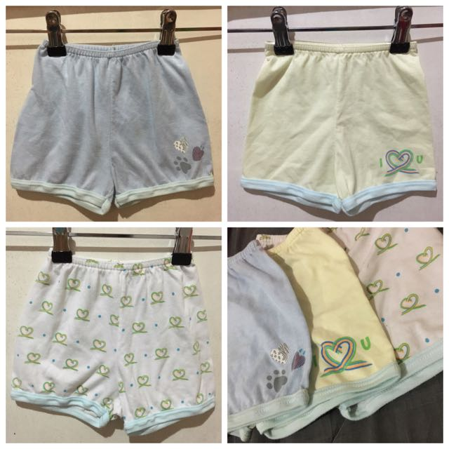 TAKE-ALL, Unisex Cotton Short, 6-9 Months On Tag, 3pcs, P100.** only.