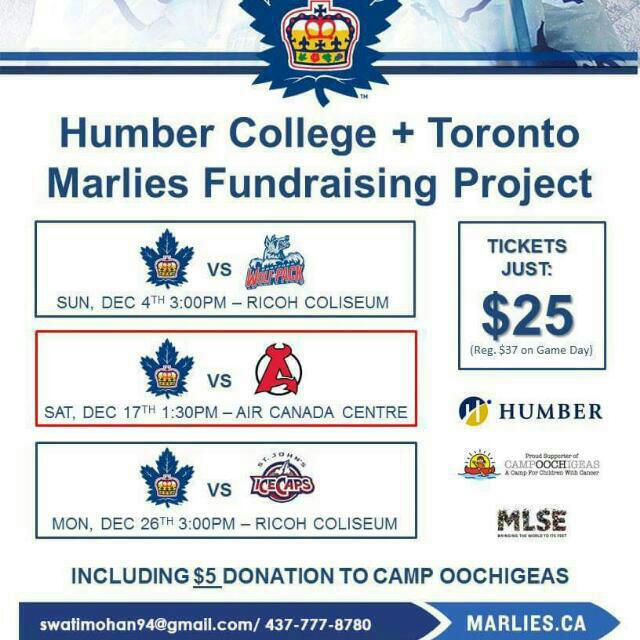 Tickets For The Marlies Game