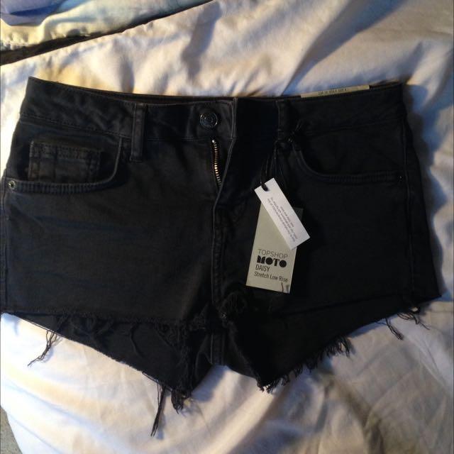 Top Shop Denim Black Shorts