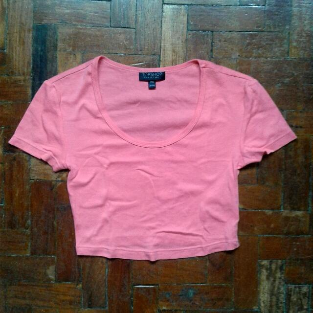 Topshop Crop Top Pink