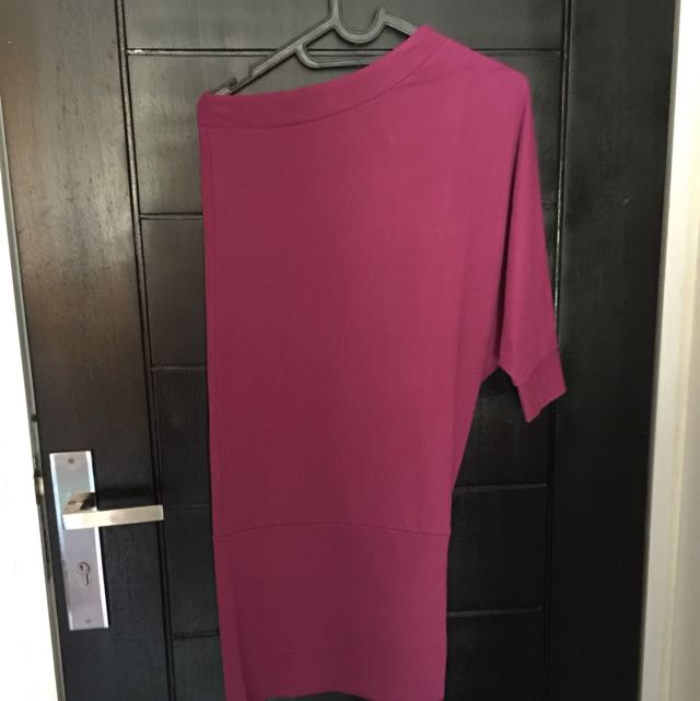 Unbrand One Shoulder Dress Purple