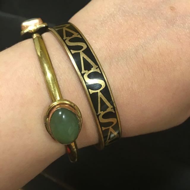 Victoria Secret Bangle & Gold Plated with gem stone Bracelets❤️