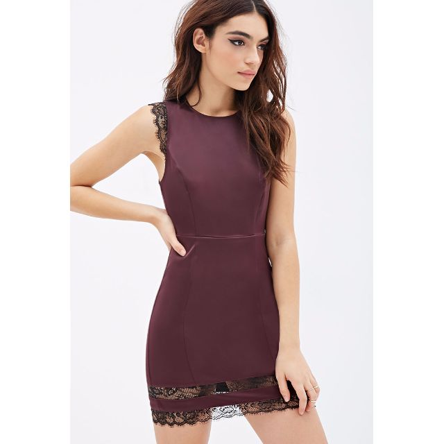 *REDUCED* XXI Eyelash Lace Trim Dress