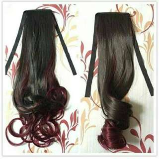 Ponytail Ombre Maroon