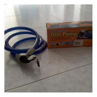 Foot Pump N Lock For Bicycle