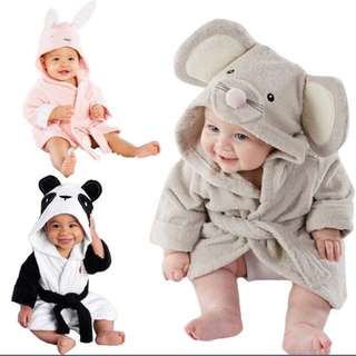 Babies Hooded Animal Cloak/ Bath Towel (PO)