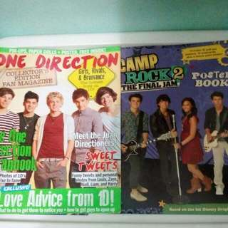 One Direction, Camp Rock, Jonas Brothers