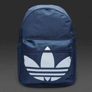 adidas 三葉草 後背包 三色 深藍色