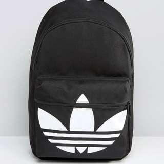 adidas 三葉草 後背包 三色 黑色