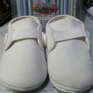 Pitter Pat White Christening Shoes