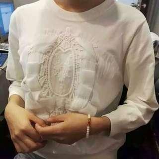 某高級牌子精緻原單Lace刺繡上衣 米白 只有兩件 包SF Express 順豐站自取