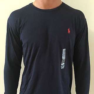 SALE - Ralph Lauren Navy Long Sleeve T Shirt