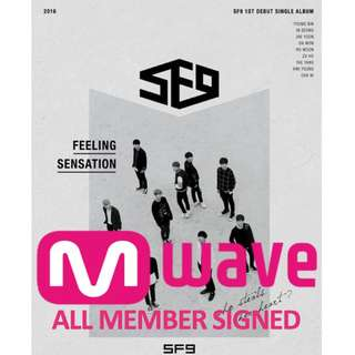 SF9 MWAVE SIGNED ALBUM