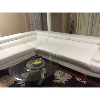 (Couch) Leather 2-Piece Sectional