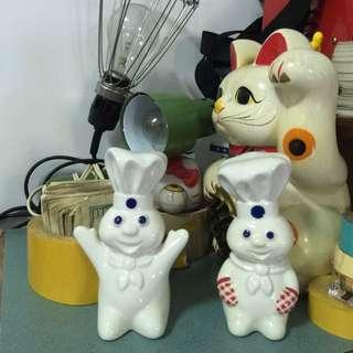 The Pillsbury Doughboy  麵團人 胡椒罐 鹽罐