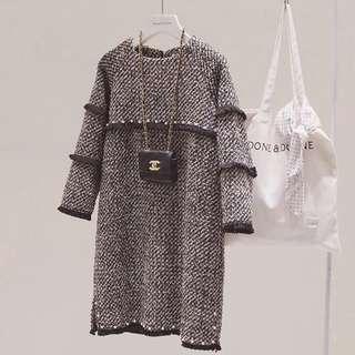 韓國小香風珍珠洋裝