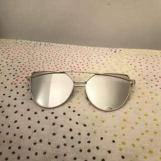 Metallic Grey Sunglasses